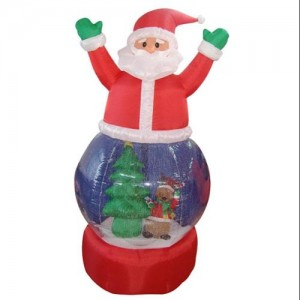 Santa Claus Inflatable Snow Globe Airblown Blow Up for Christmas