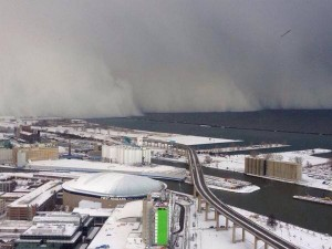 Lake Effect Snow Wall in Buffalo Area